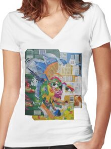 Count Olaf Women's Fitted V-Neck T-Shirt