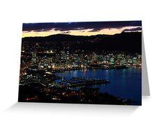 Wellington city at dusk 2 Greeting Card