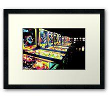 Pinball Arcade Framed Print