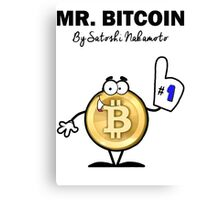 Mr Bitcoin T Shirt By Satoshi Nakamoto  Canvas Print
