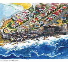 Bondi Cliff Edge Mansions by Dai Wynn