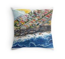 Bondi Cliff Edge Mansions Throw Pillow