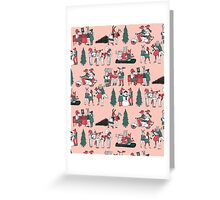 Woodland Christmas - Pale Pink by Andrea Lauren  Greeting Card