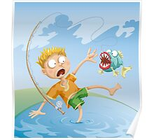 Horrible Fishing Accident Poster
