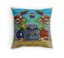 8-Bit Nightmare Throw Pillow