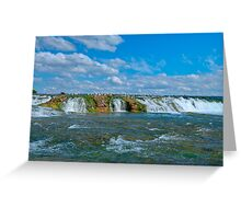 The Green Cascade - Upper Niagara Rapids Greeting Card