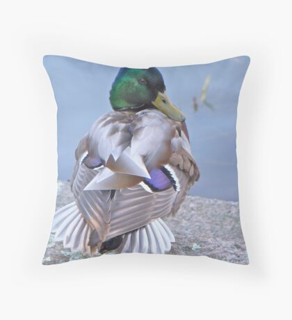 Mallard Drake - I am Too Sexy For My Clothes Throw Pillow
