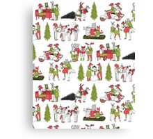 Woodland Christmas - Green by Andrea Lauren  Canvas Print