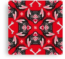 Bat Head Pattern Canvas Print