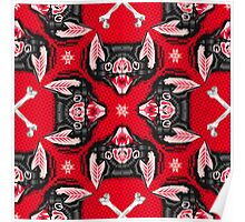 Bat Head Pattern Poster