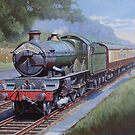GWR Castle in Sonning Cutting. by Mike Jeffries