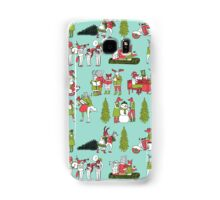 Woodland Christmas - Turquoise by Andrea Lauren  Samsung Galaxy Case/Skin