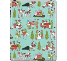 Woodland Christmas - Turquoise by Andrea Lauren  iPad Case/Skin