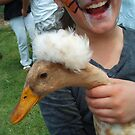 Funky Chick and Duck by marilittlebird