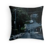 Down the Lane Throw Pillow