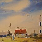 New light house - Dungeness Kent by Beatrice Cloake