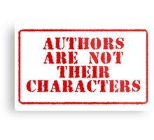 Authors are not their characters Metal Print