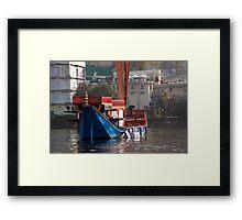 Regal Lake Barge Framed Print