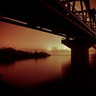 Bridge On A Foggy Night  by BruceMacArthur