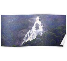 Beautiful Tasmania - St Columba Falls from a distance Poster