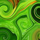 Swirls of Green by Angela Gannicott