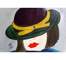Girl with Hat Photographic Print