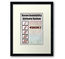 BACON 2 Framed Print