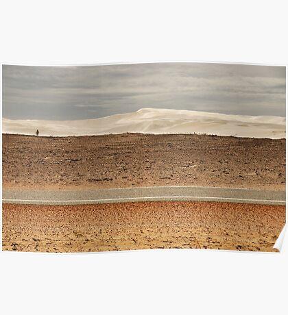 Inland Sand Dunes Poster