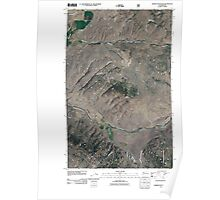 USGS Topo Map Washington State WA Barker Mountain 20110509 TM Poster