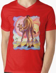 Animal Parade Camel Mens V-Neck T-Shirt