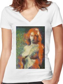 AQ New Impression by Mary Bassett Women's Fitted V-Neck T-Shirt