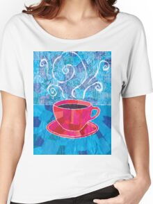 Cut and Paste and Run and Jump Coffee or Tea Women's Relaxed Fit T-Shirt
