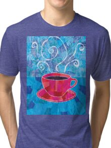 Cut and Paste and Run and Jump Coffee or Tea Tri-blend T-Shirt