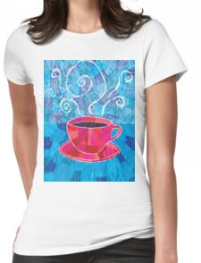 Cut and Paste and Run and Jump Coffee or Tea Womens Fitted T-Shirt
