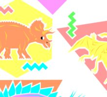 Nineties Dinosaurs Pattern Sticker