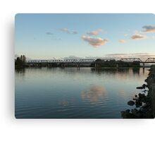 Manning River at dusk, Taree, NSW Canvas Print