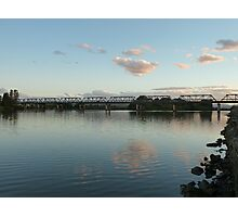 Manning River at dusk, Taree, NSW Photographic Print