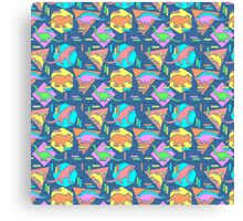 Nineties Dinosaurs Pattern Canvas Print