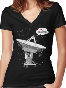 I love space! Women's Fitted V-Neck T-Shirt