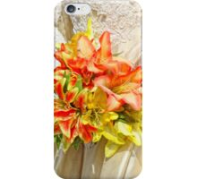 The bride had a lily bouquet iPhone Case/Skin