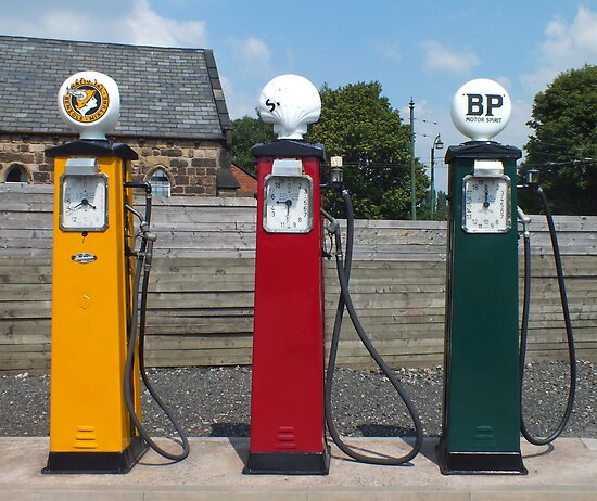Vintage Fuel Pumps by Yampimon