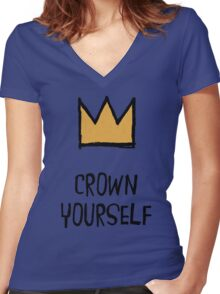 Crown Yourself Women's Fitted V-Neck T-Shirt