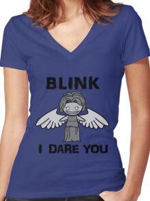 BLINK, I DARE YOU Women's Fitted V-Neck T-Shirt