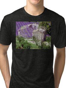 Lavender, collage Tri-blend T-Shirt