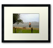 7/5 walking in the rain Framed Print