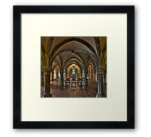 Crypt, Rochester Cathedral, Kent, England Framed Print