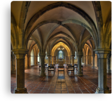 Crypt, Rochester Cathedral, Kent, England Canvas Print