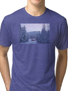 Hut in Enchanted Woods Tri-blend T-Shirt