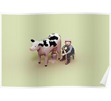 Milking time Poster