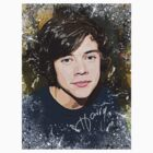 Harry Styles Art Signed T-Shirt by kmercury